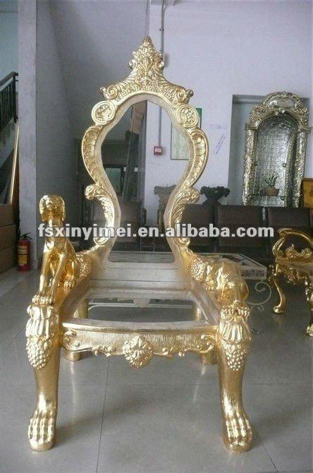 golden luxury king chair in classical design buy