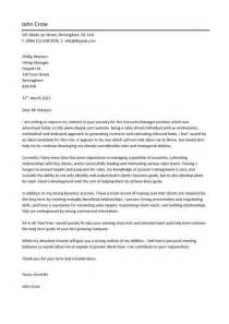 Accounting Administrator Cover Letter by Cover Letter Exle Accounting Manager Cover Letter Exle