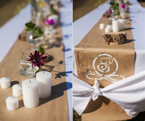 Craft Paper Table Runner - industrial style wedding rustic wedding chic