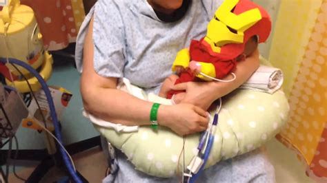 dad builds iron man costume sick infant feel