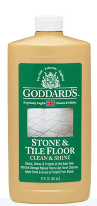 goddards stone tile floor clean shine fine polish