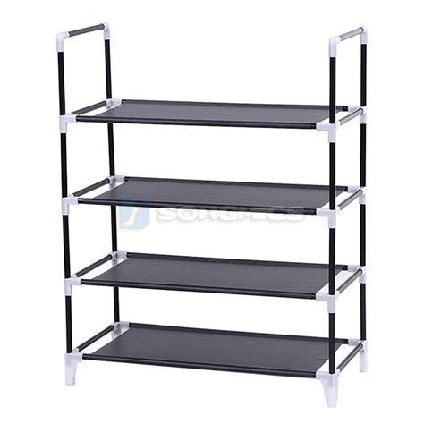 5 Tier Shoe Rack by Songmics 4 5 Tier Shoe Rack Cabinet Stand Standing Storage