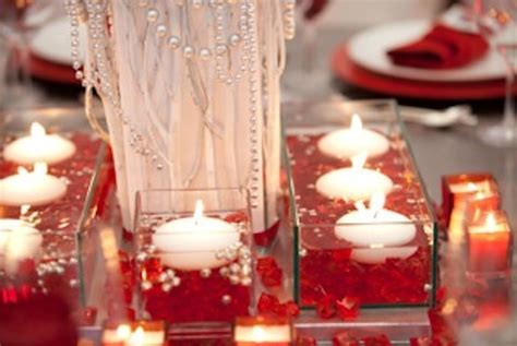 Ruby Red Decorations for the 40th anniversary.   Weddings