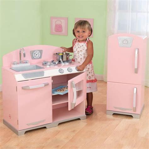 kidkraft vintage kitchen in pink kidkraft 2 pink retro kitchen and refrigerator 53160 retro kitchens pink and products