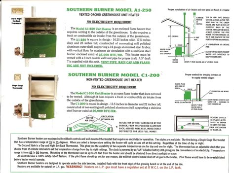 southern burner c 1 heater new page 1 www greenhousesetc net