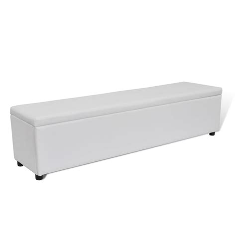 oversized storage bench white storage bench large size vidaxl com