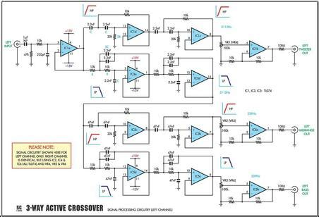 4 way speaker crossover schematic get free image about