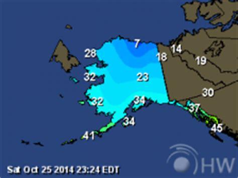 alaska weather maps