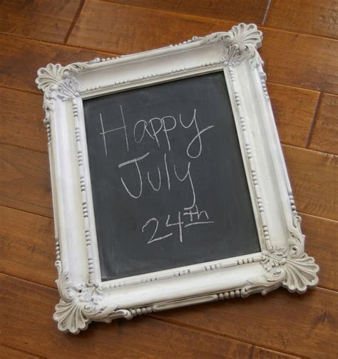 chalk board frame you paint the glass chalkboard paint