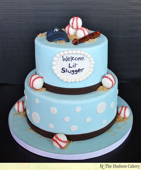 Baseball Baby Shower Cake Ideas for the lil slugger baseball baby shower b lovely