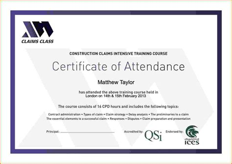 attendance certificate template word future various