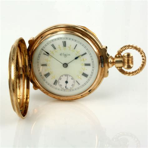 buy pristine antique 14ct gold elgin pocket sold