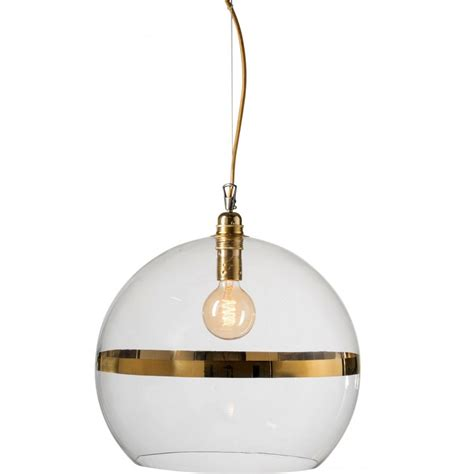 Large Glass Globe Hanging Ceiling Pendant Light With Gold Large Glass Pendant Light