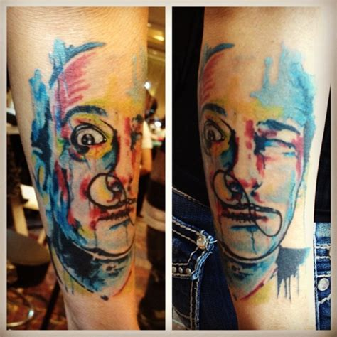 watercolor tattoo dc pl watercolor dali portrait paul loh