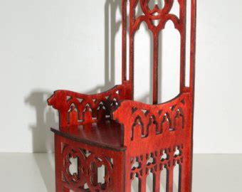 mobili gotici mobili gotici 2 trono 4 sedie tavolo nero bambole 1 6 1 6