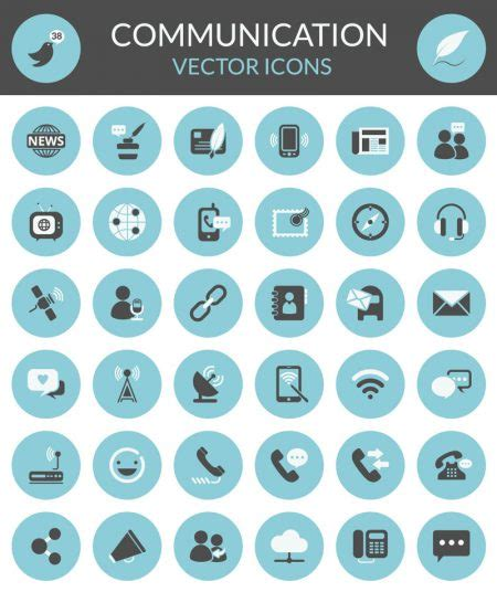icon design daily exclusive free download the communication icon set