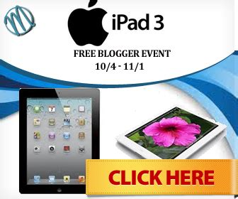 Free Ipad 3 Giveaway - free ipad 3 blogger giveaway event for bloggers