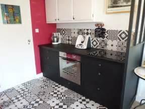 cuisine avant apr 232 s noir ulta mat cr 233 dence carreaux ciment
