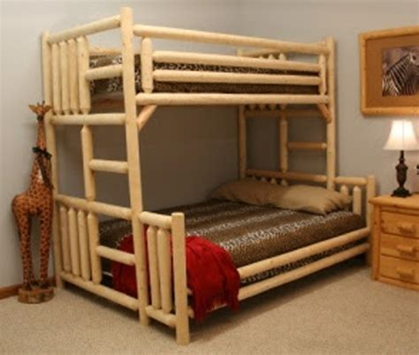 easy to build bunk beds easy to build yet charming bunk bed 171 the log builders
