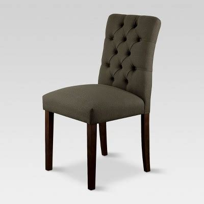 threshold brookline tufted dining chair glacier brookline tufted dining chair charcoal 1 pack