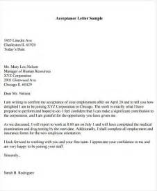 Acceptance Notification Letter 40 Offer Letter Exles
