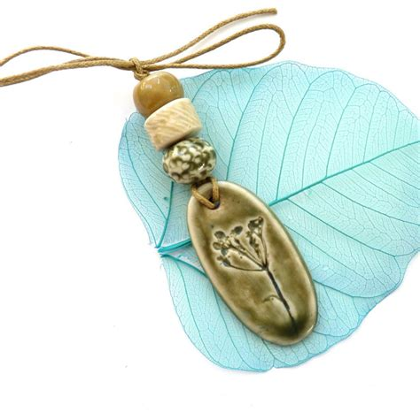 Handmade Jewelry Supplies - ceramic pendant and handmade jewelry supplies
