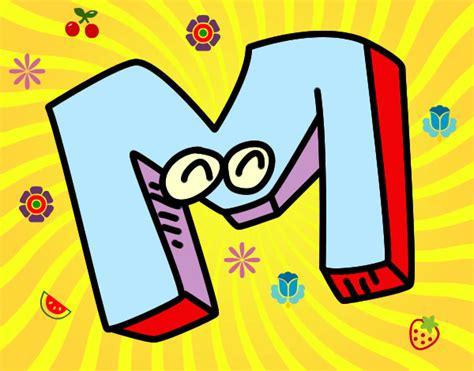 desenho de letra m pintado desenho de m pintado e colorido por jokita o dia 05 de maio do 2012