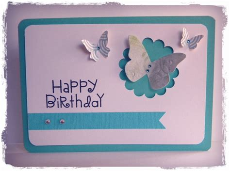 Birthday Cards Handmade - happy birthday aqua