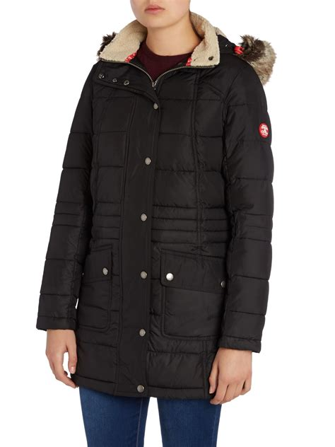 Quilted Parkas by Barbour Landry Longline Parka Quilted Coat In Black Lyst