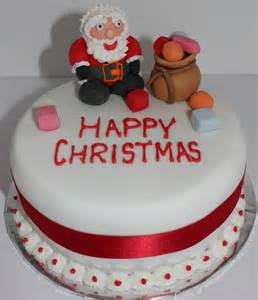 happy christmas santa claus cake