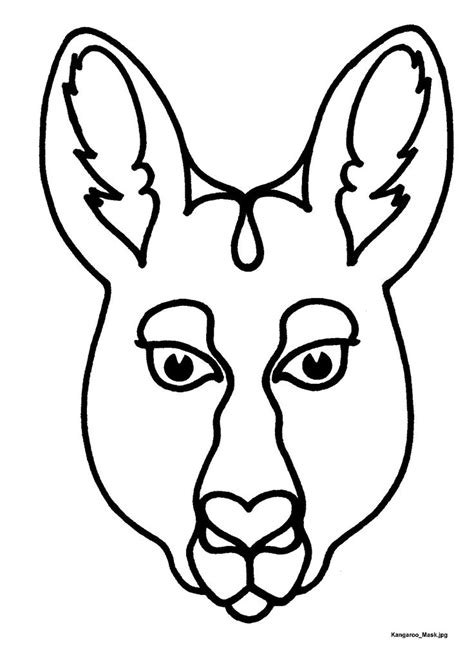 printable endangered animal masks mask templates for australian other animals
