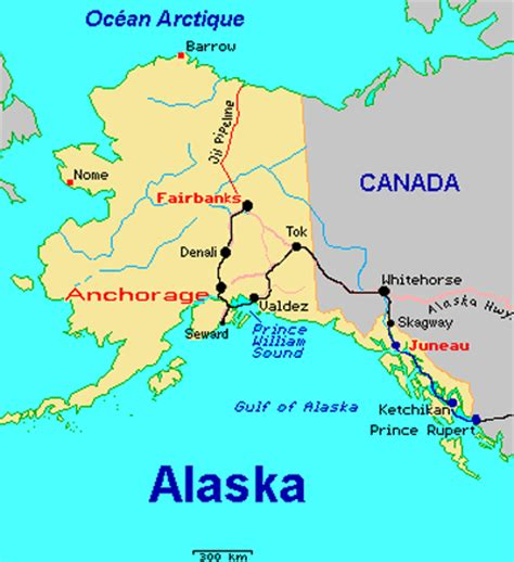 usa map with alaska map of alaska and canada and usa