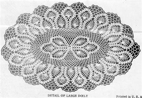 Mail Order Catalogs For Home Decor by Oval Pineapple Doily Crochet Pattern Alice Brooks 7165