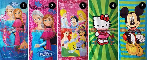 Handuk Karaktet Princess handuk karakter kartun butterfly menyerap motif banyak