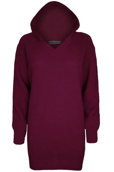 Plain Jumper Dress womens plain chunky knit oversized baggy sweater