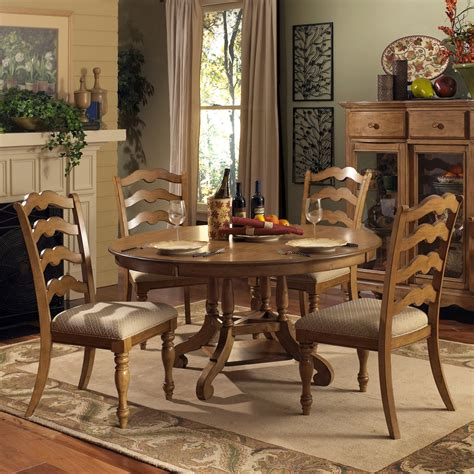 Hillsdale Htons 5 Piece Round Dining Room Set In Dining Room Sets
