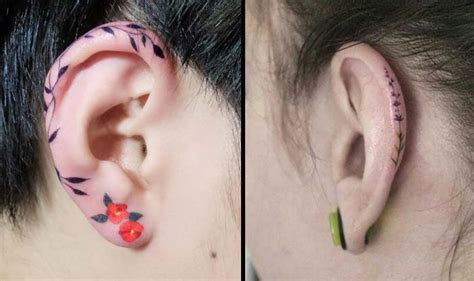 helix tattoos are the next cool ear art trend on instagram