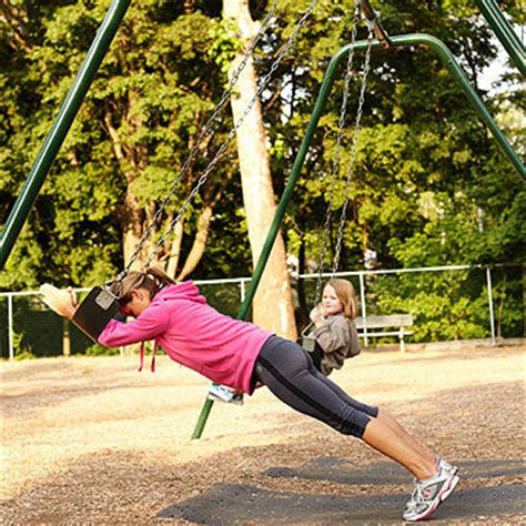 push swing playground workout get fit at the playground