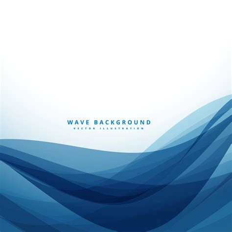 blue wave background clean blue business style wave background free