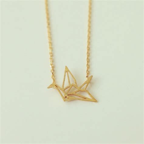 Origami Crane Jewelry - origami crane necklace shopebbo