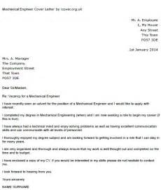 mechanical engineer cover letter exle icover org uk