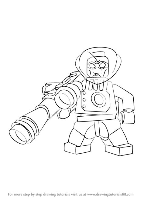 Learn How To Draw Lego Mr Freeze Lego Step By Step Mr Freeze Coloring Pages