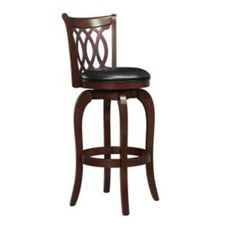 homesullivan 29 in bar stool with swivel in cherry 401133