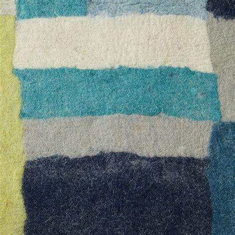 layered rectangle felt rug west elm