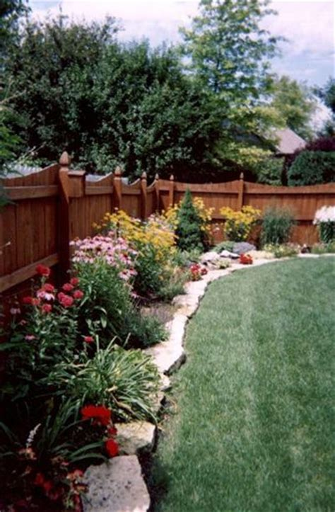 backyard borders landscaping along a backyard fence izvipi com