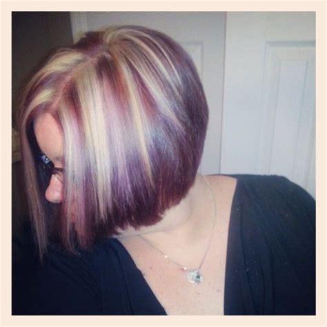 exles of funky high lights for short hair purple hair highlights eggplant funky hair hair