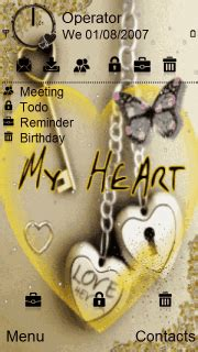 love lock themes download my heart lock nokia theme mobile toones