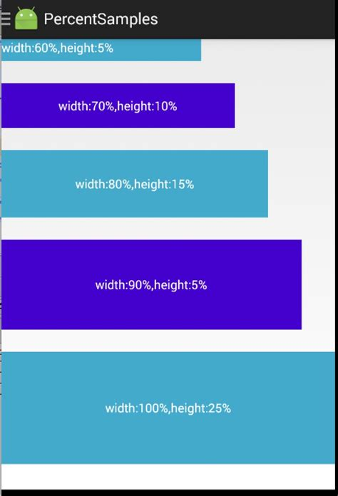 android studio layout width percentage android ٷ ȳ percent support lib չ android100ѧϰ