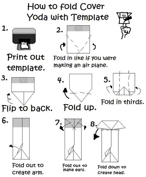How To Fold Origami Yoda - new cover origami yoda template origami yoda