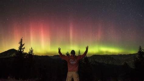 Northern Lights Salem Oregon by Salem Photographer Captures Epic Oregon Borealis Kgw